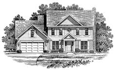 Colonial House Plan with 2108 Square Feet and 4 Bedrooms from Dream Home Source | House Plan Code DHSW54095