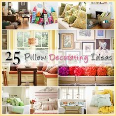 25 Ideas for Decorating with Pillows - The Cottage Market #PillowDecoratingIdeas, #Pillows, #DecoratingWithPillows by britta.hansen.900
