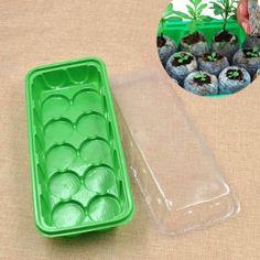 Amazon.com: Plastic Nursery Pot Plant Square Tray Box 10 Holes: Patio, Lawn…