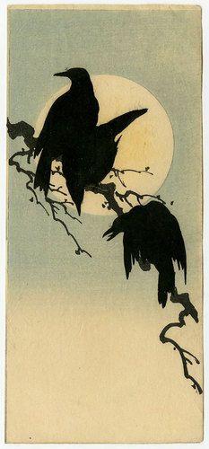 Shoda Koho - Crows and Full Moon. 1910