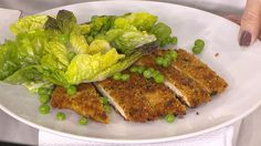 Chicken schnitzel with Caesar pea salad: Donal Skehan makes dinner easy