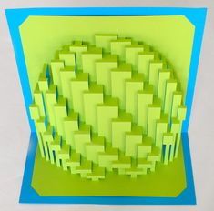 """DIY Template - """"Obloid Zigzag"""" Kirigami Pop-up paper sculpture Origami And Kirigami, Paper Crafts Origami, Paper Quilling, Paper Art Design, Libros Pop-up, Paper Folding, Pop Up Cards, Space Crafts, Bookbinding"""