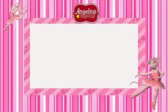 angellina ballerina invitation card