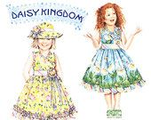 Simplicity Daisy Kingdom 4201 Childrens Sundress and Hat
