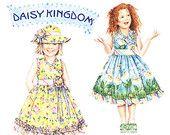 Simplicity Daisy Kingdom 4201 Childrens Sundress and Hat