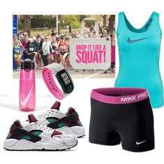 Keeping Fit by gabriele-bernhard on Polyvore featuring NIKE, nike and huaraches