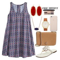 """""""ootd"""" by prep-society ❤ liked on Polyvore featuring H&M, Kendra Scott, Tory Burch and Kate Spade"""