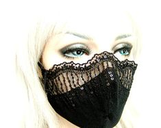 Ideas for creatives in making mouth masks Mouth Mask Fashion, Fashion Face Mask, Easy Face Masks, Diy Face Mask, Lace Mask, Leather Mask, Diy Mask, Mask Design, Icon Design
