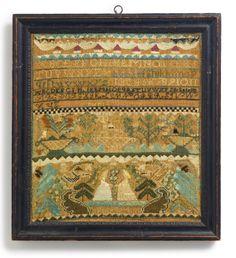 Rare Needlework Sampler, Nabby Goss (1783-1842), Salem, Massachusetts, Dated 1796 | Lot | Sotheby's