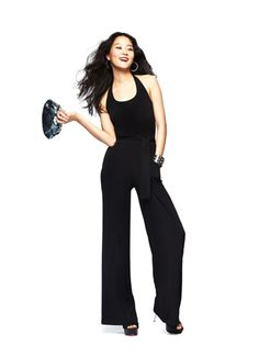 #FashionStar Episode 3: Nikki Poulos's Wide-Leg Jersey Halter Jumpsuit for Macy's