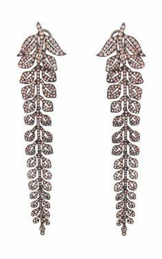 16ct Cz Beautiful Leaf Dangle Earring 925 Sterling Silver White Wedding Jewelry* #NIKI #Chandelier