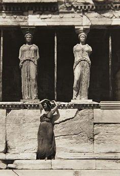Isadora Duncan at the Parthenon (1920) by Edward Steichen Tumblr