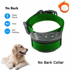 Wonnoo Tech Dog No Bark Collar for Bark Control w/ 7 Levels Adjustable Sensitivity Control, for 15-120 Pounds Dogs ** Click image for more details.