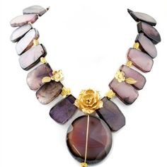 Purple Agate Necklace.