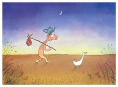 I fell in love with the quirky, simple art works and verses by Michael Leunig when I was about 14 years old and now I several of his books which I love to flick through still. The curly head and duck are Leunig staples.