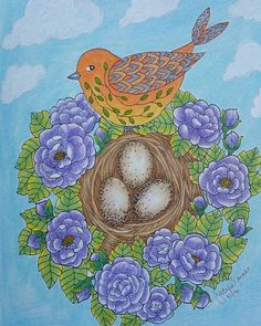 Finished this piece about 2 weeks ago, forgot to post.  From #mariatrolle #blomstermandala book, colored with #holbein pencils. #adultcoloringbook #fun2color #adultcoloringbookph #sky #bird #nesting #fantasycoloringbook #flowers #art #illustration #InstaTags4Likes #drawing #draw #picture #photography #artist #sketch #sketchbook #paper #pen #pencil #artsy #instaart #beautiful #instagood  #gallery