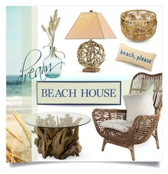 """""""driftwood and rattan beach house decor"""" by collagette ❤ liked on Polyvore featuring interior, interiors, interior design, home, home decor, interior decorating, Uttermost, Nordstrom Rack, Pier 1 Imports and beachhouse"""