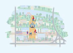 Nové Lido, to bude okrem iných päť hlavných veľkých verejných priestorov. Nedávno sme predstavili, ako by podľa nás mohol vyzerať prvý z nich - nábrežie. Dnes sa presunieme od rieky ďalej do vnútrozemia, a predstavíme vám naše uvažovanie o centrálnom námestí Nového Lida.