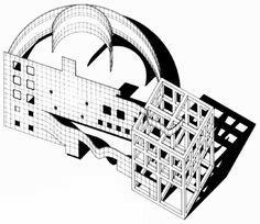 1976-78 Arata Isozaki, Conceptual structure,  Kimioka Town Hal