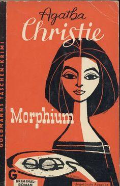 vintage German book cover: Agatha Christie - Morphium – 1960