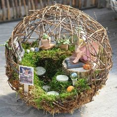 Miniature Globe Fairy Garden Design Ideas