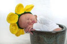 Crocheted Sunflower Hat  Crocheted Flower Petal Hat by MamaTCrafts, $22.00
