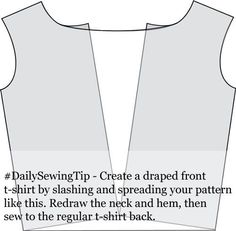 How to make a draped neck shirt pattern