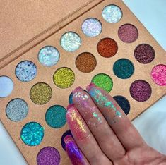 Enchanted Glitter Palette 24 Color Glitter - Make Up - Makeup Guide, Makeup Kit, Makeup Tools, Skin Makeup, Eyeshadow Makeup, Makeup Cosmetics, Beauty Makeup, Makeup Brushes, Makeup Basics