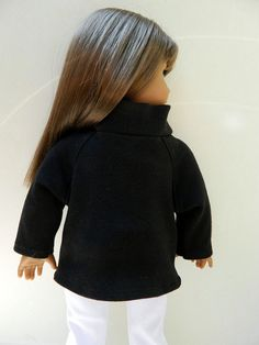 American Girl Doll Clothes Black Knit Cowl by 18Boutique on Etsy