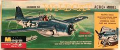 Monogram 1/48 Grumman F4F Wildcat Action Model - Four Star Issue, PA66-98 plastic model kit