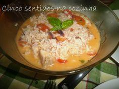 Cinco sentidos na cozinha: Arroz de bacalhau com tomate- cereja