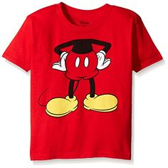Disney Little Boys' Toddler Mickey Headless Group T-Shirt Toddler, Red, 4T -- You can find more details by visiting the image link.