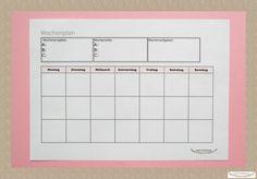 Kostenfreie Druckvorlagen für Jahresplaner 2016 WOCHENPLANER mit Planungsfenstern für Wochenziele und Wochenwünsche  ***by:www.missmommypenny.de*** weekly planer free printable