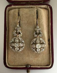 Victorian Diamond Earrings