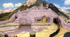 Red Mountain begins to take shape in N scale Colorado - but it still looks pink at this point. I took a break from Thunder Mesa this . N Scale Train Layout, Ho Train Layouts, N Scale Layouts, Christmas Village Sets, N Scale Model Trains, Model Railway Track Plans, Ho Trains, Ho Scale, Thing 1