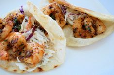 Chipotle Shrimp Taco with Avocado Lime Coleslaw