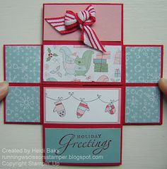 Countdown To Christmas: A Cute Christmas Never Ending Card by RunningwScissorsStamper