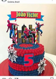 Trendy cake decorating ideas for men cupcake toppers Ideas - Cake Decorating Square Ideen Spiderman Cake Topper, Spiderman Birthday Cake, Batman Cakes, Birthday Cakes For Men, Birthday Cupcakes, Party Cupcakes, Tortas Deli, Bolo Super Man, Best Cake Mix