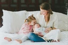 Mama and babies. Lifestyle newborn family photography: Heather Essian