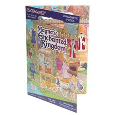 $10.49 - The Magnetic Enchanted Kingdom includes 20 fun magnetic play pieces and a board that shows the inside and outside of a castle.  MADE IN USA