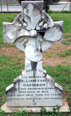 Grave Marker ... William Fyffe Davidson ... Died At Sea