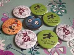 Another set of Halloween badges. Busy every year guys so order early.