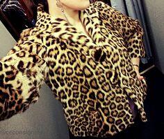 Vintage Leopard Fur Cropped Jacket