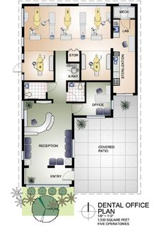 Dental Surgery Floor Plans - Do you know Dental Surgery Floor Plans has become the hottest topics on this category? That's the reason we are showing t. Dental Office Decor, Medical Office Design, Healthcare Design, Home Office Design, Office Designs, Clinic Interior Design, Clinic Design, Layout, Office Floor Plan