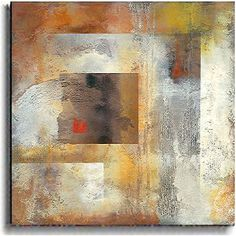 Abstract art adds color and chic sophistication to any room Colors are a dynamic exchange of shapes and texture Versatile art can be displayed horizontally or vertically Skilled artisans hand-stretch #abstractart