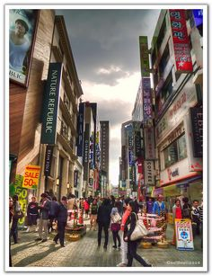 Myeong-dong, Seoul, South Korea by Gee!Bee, via Flickr