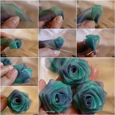 How to DIY Pretty Chiffon Ribbon Rosette | iCreativeIdeas.com Like Us on Facebook ==> https://www.facebook.com/icreativeideas