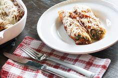 Skinny Manicotti (used fat free ricotta instead of low fat cottage cheese and added more spices to make it more flavorful)!
