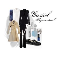 """""""Castiel"""" by michelle-curtis on Polyvore. Supernatural. My own Castiel look."""