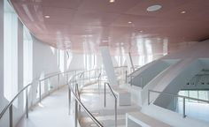 Hunter Douglas' rose perforated-metal ceilings create another unique aspect to the Faena Fourm in Miami Beach!